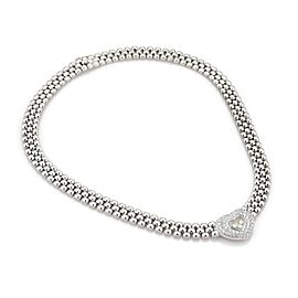 Chopard Happy Diamond 1.25ct Diamonds 18k White Gold Heart Pendant Necklace