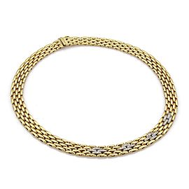 Mayor's Diamond 18k Two Tone Gold 5 Rows Panther Link Collar Necklace