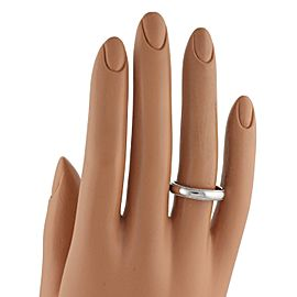 Tiffany & Co. Platinum Double Milgrain 4mm Wide Wedding Band Ring Size 8