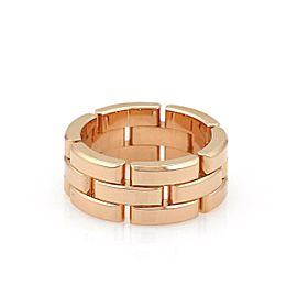 Cartier Maillon Panthere 18k Rose Gold 8mm Band Ring Size 5.5
