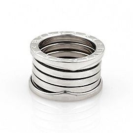 Bulgari Bulgari B Zero-1 18k White Gold 13mm Band Ring Size 4.75