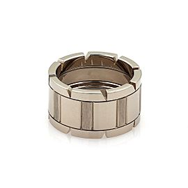 Cartier Tank Francaise 18k White Gold 11mm Band Ring Size EU 52- US 6