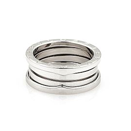 Bulgari Bulgari B Zero-1 18k White Gold 9mm Band Ring Size 7