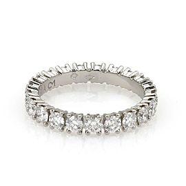 Cartier Destinee Diamond Platinum Eternity Ring Size 50-US 5 Paper Ret $10,700