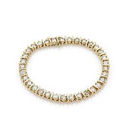 Estate 8.25ct Diamond 14k Yellow Gold Bar Link Tennis Bracelet