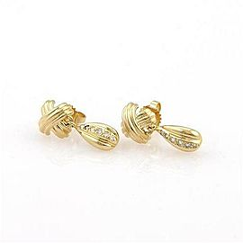 Tiffany & Co. Diamond 18k Yellow Gold Crossover Dangle Earrings