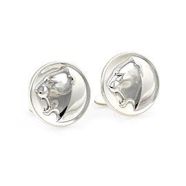 Georg Jensen Denmark Sterling Silver Large Round Panther Cufflinks