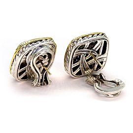 David Yurman Albion1.50ct Diamond Sterling 18k Yellow Gold Earrings