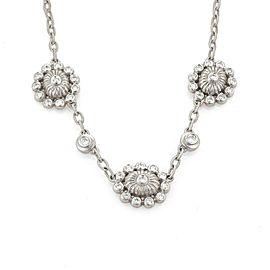 Doris Panos 1.20ct Diamond Floral Chain Necklace