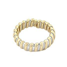 Bulgari Bulgari 18k Yellow Gold & Steel 20mm Wide Flex Cuff Bracelet