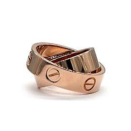 Cartier Love Secret 18k Rose Gold 5.5mm Band Ring Size 4.5