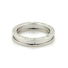 Bulgari Bulgari B Zero-1 Single 18k White Gold 5mm Band Ring Size 7