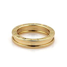 Bulgari Bulgari B Zero-1 4.5mm 18k Yellow Gold Band Ring Size 5.5