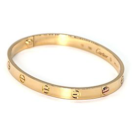 Cartier Love Bracelet Yellow Gold, Size 18