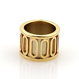 Cartier Tanis 18k Gold Wide Scarab Band Ring Size EU 50-US 5 Paper