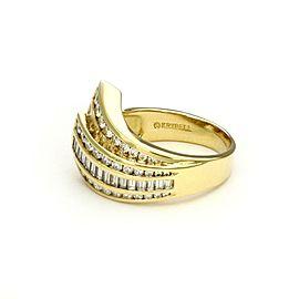 Charles Krypell 1.80ct Diamond 18k Yellow Gold 2 Layer Ribbon Band Ring