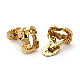 Cartier Double C 18k Yellow Gold Stud Cufflinks