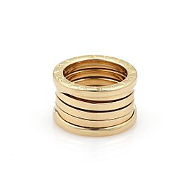 59232 Bvlgari Bulgari B Zero-1 18k Yellow Gold 12mm Band Ring Size EU 52-US 5.5
