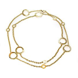 Bulgari Bulgari 18k Yellow Gold Signature 6 Large Circle Station Necklace