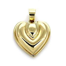 Cartier Vintage 1991 18k Yellow Gold Puffed Heart Pendant