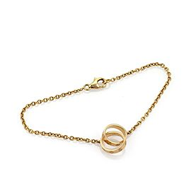 Cartier Baby Love 18k Yellow Gold 2 Mini Ring Charms Chain Bracelet
