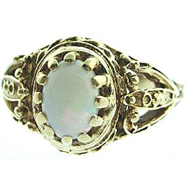 14K YELLOW GOLD LADIES OPAL RING SIZE 6.5