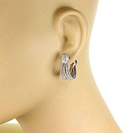 Marco Bicego Diamond 18k White Gold Multi Strand Oval Hoop Earrings