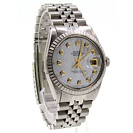 Mens Rolex Oyster Perpetual Datejust Stainless Steel Diamond Jubilee Watch