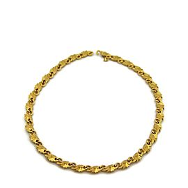 Carrera Y Carrera 18k Yellow Gold All Around Elephant Link Necklace
