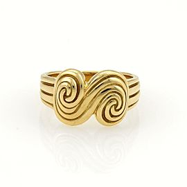 Tiffany & Co. SPIRO 18k Yellow Gold Grooved Spiral Design Ring Size 5.5