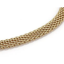 Tiffany & Co. 18k Yellow Gold 10mm Wide Mesh Design Collar Necklace