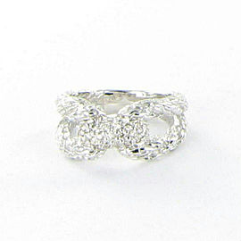 John Hardy Classic Chain Diamond Pave Ring 0.25cts Sterling Silver Size 7