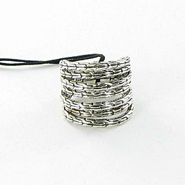 John Hardy Classic Chain 7 Band Ring Sterling Silver Size 7
