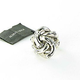 John Hardy Bamboo Knot Ring Sterling Silver Size 7