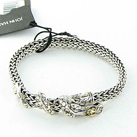 John Hardy Naga Dragon Station Medium Bracelet 18K Sterling Silver