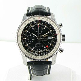 Breitling Navitimer World 46mm Chronograph Black Dial Mens Watch A2432212/B726