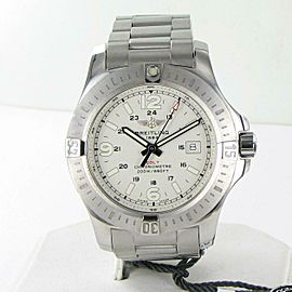 Breitling Colt Quartz 44mm Stratus Silver Dial Steel Mens Watch A7438811/G792