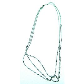 Fine Estate Ladies 14K White Gold Chain 3 In 1 Necklace