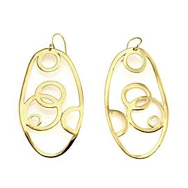 Ippolita Digital Lace 18k Yellow Gold Long Oval Drop Dangle Earrings