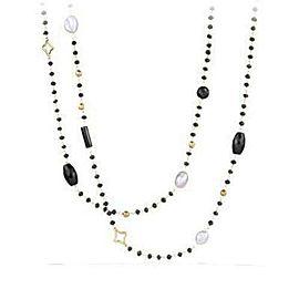 David Yurman Bijoux Bead Necklace Potpourri Onyx Pearl Hematite 18K Gold