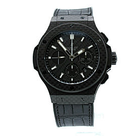 HUBLOT Big Bang 44mm Carbon Fiber Chronograph Automatic Watch 301.QX.1740.GR
