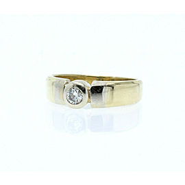 ESTATE 14k Yellow White Gold .33ct Diamond Men's ring 9.5 Grams Size 12