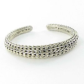 John Hardy Classic Chain Graduated Kick Cuff Bracelet Sterling Silver