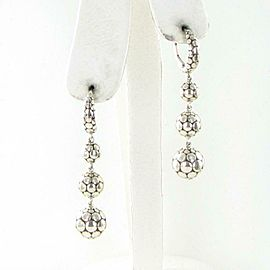 John Hardy Dot Ball Triple Drop Earrings 52mm Sterling Silver