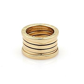 Bvlgari Bulgari B Zero-1 18k YGold 12mm Band Ring Size EU 60-US 9 w/Cert