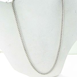 "John Hardy Classic Chain Small Necklace 18"" 3.7mm Sterling Silver"