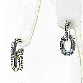 John Hardy Dot Drop Dangle Earrings Sterling Silver