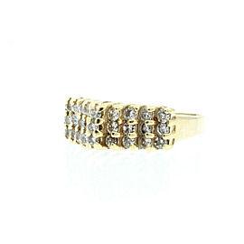 Estate 14k Yellow gold .50ct Round Diamond Dome Ladies Ring Size 5