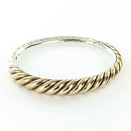 David Yurman Pure Form Cable Bracelet Mixed Metal Bronze Sterling