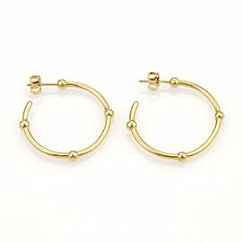 Tiffany & Co. 18k Yellow Gold Beaded Hoop Earrings